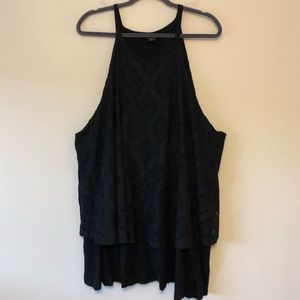 Torrid Crochet Double-Layer Split-Back Top